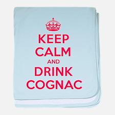K C Drink Cognac baby blanket