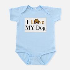 I Love My Dog Infant Bodysuit