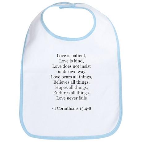 I Corinthians 13:4-8 Bib