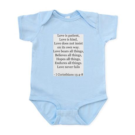 I Corinthians 13:4-8 Infant Creeper
