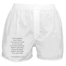 I Corinthians 13:4-8 Boxer Shorts