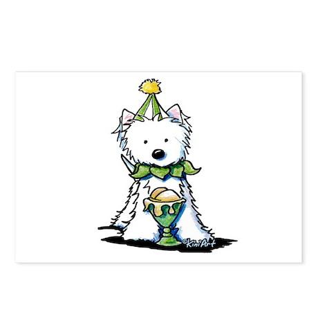 Birthday Ice Cream Westie Postcards (Package of 8)