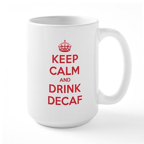K C Drink Decaf Large Mug