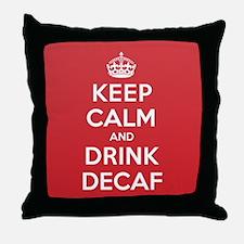 K C Drink Decaf Throw Pillow