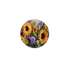 Sunflower Mini Button (100 pack)