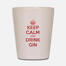 K C Drink Gin Shot Glass
