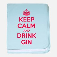 K C Drink Gin baby blanket