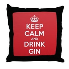 K C Drink Gin Throw Pillow