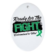 Ready Fight Liver Cancer Ornament (Oval)