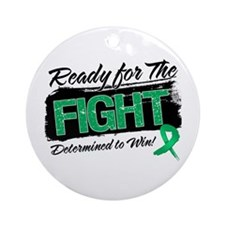 Ready Fight Liver Cancer Ornament (Round)