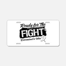 Ready Fight Lung Cancer Aluminum License Plate