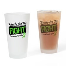 Ready Fight Lymphoma Drinking Glass