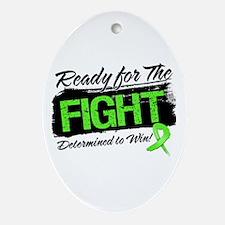 Ready Fight Lymphoma Ornament (Oval)