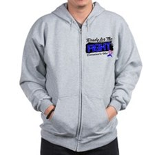 Fight Male Breast Cancer Zip Hoodie