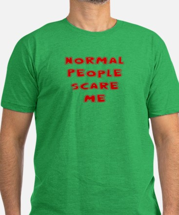 Unique Normal people scare me Men's Fitted T-Shirt (dark)