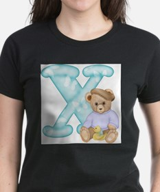 Teddy Alphabet X Teal (s) T-Shirt