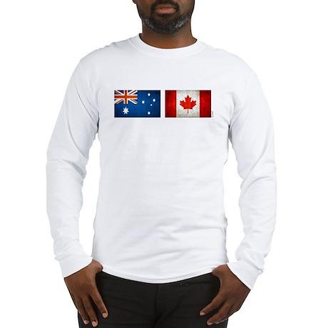 australia canada flags Long Sleeve T-Shirt