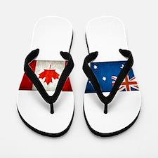 australia canada flags Flip Flops