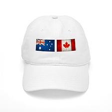 australia canada flags Baseball Cap