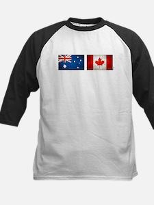 australia canada flags Kids Baseball Jersey