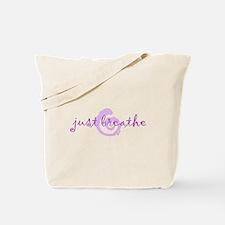 just breathe purple Tote Bag