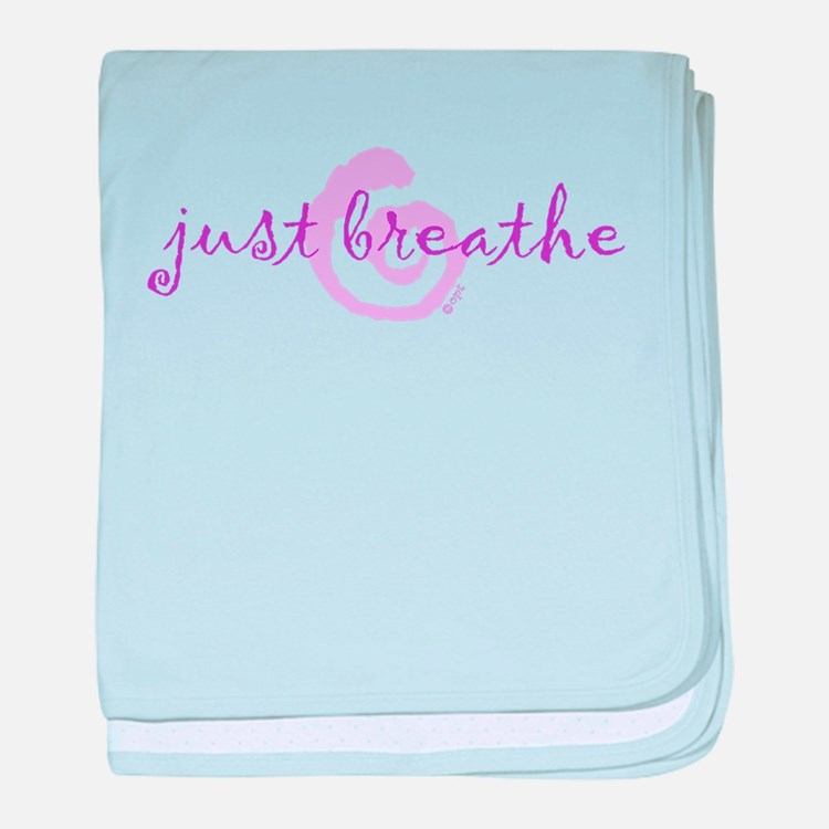 just breathe purple baby blanket