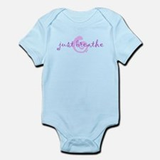just breathe purple Infant Bodysuit