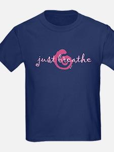 just breathe purple T