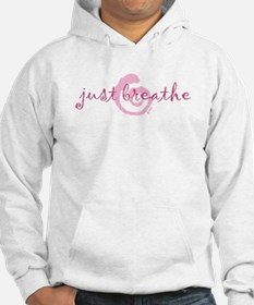 just breathe purple Hoodie