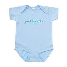 just breathe purple Infant Bodysuit