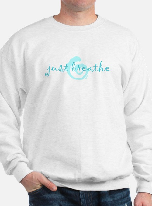 just breathe purple Sweatshirt