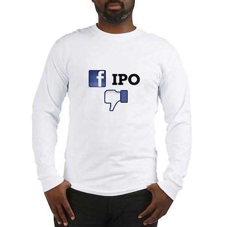 Facebook IPO Thumbs Down Long Sleeve T-Shirt