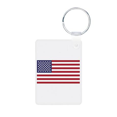 USA Flag_Large.png Aluminum Photo Keychain