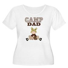 Girl with Squirrel Camp Dad Womens Plus Size Shirt
