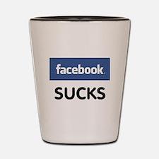 Facebook Sucks Shot Glass