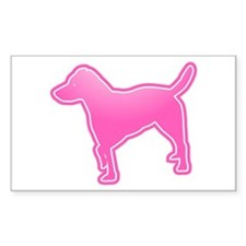 Parson Russell Terrier Rectangle Decal