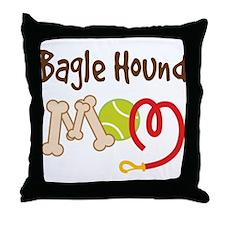 Bagle Hound Dog Mom Throw Pillow