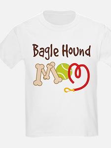 Bagle Hound Dog Mom T-Shirt