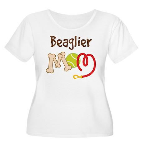 Beaglier Dog Mom Women's Plus Size Scoop Neck T-Sh