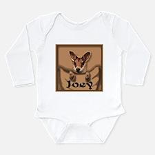 Cute Kangaroo Long Sleeve Infant Bodysuit