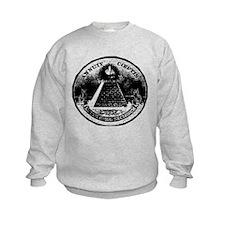 Illuminati Giving the Finger Sweatshirt