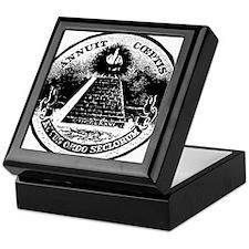 Illuminati Giving the Finger Keepsake Box