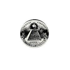 Illuminati Giving the Finger Mini Button
