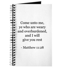 Matthew 11:28 Journal