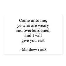 Matthew 11:28 Postcards (Package of 8)