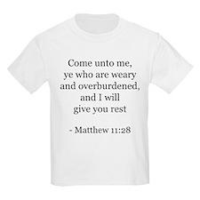 Matthew 11:28 Kids T-Shirt