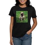 Cute Pug Women's Dark T-Shirt