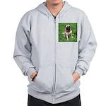 Cute Pug Zip Hoodie