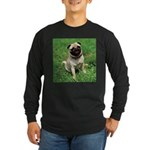 Cute Pug Long Sleeve Dark T-Shirt