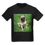 Cute Pug Kids Dark T-Shirt